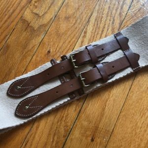 J.Crew Canvas and Leather Belt